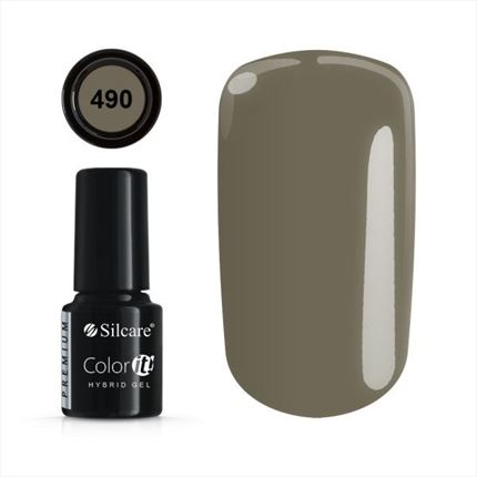 Esmalte permanente 490 de la gama Color IT Premium marca Silcare - TheNailsCloset