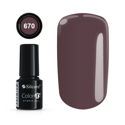 Esmalte permanente 670 de la gama Color IT Premium marca Silcare - TheNailsCloset