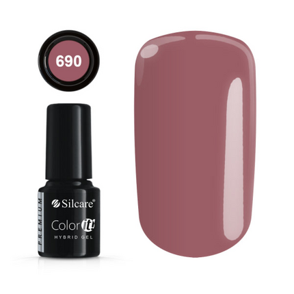 Esmalte permanente 690 de la gama Color IT Premium marca Silcare - TheNailsCloset