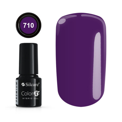 Esmalte permanente 710 de la gama Color IT Premium marca Silcare - TheNailsCloset