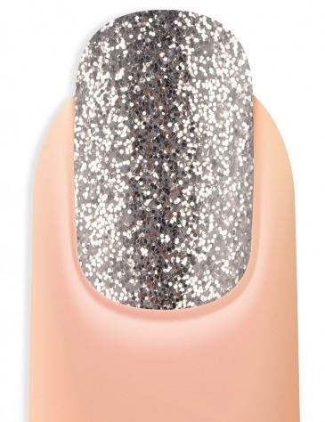 Esmalte permanente color purpurina brillante plata 5ml (3)