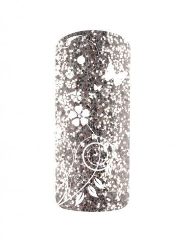 Esmalte permanente color purpurina brillante plata 5ml (5)