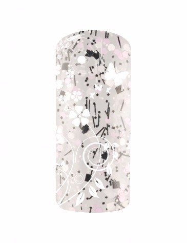 Esmalte permanente confeti color negro blanco lila 15ml (3)