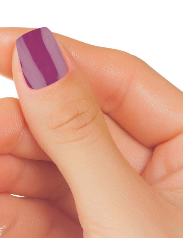Gel UV de color morado metalizado chinese lilac TheNailsCloset